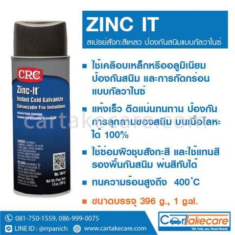น้ำยากันสนิม สเปรย์สังกะสีเหลว CRC 18412 18413