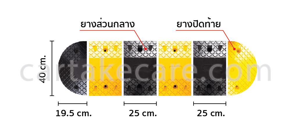 ยางชะลอความเร็ว 40x25x7 ซม.